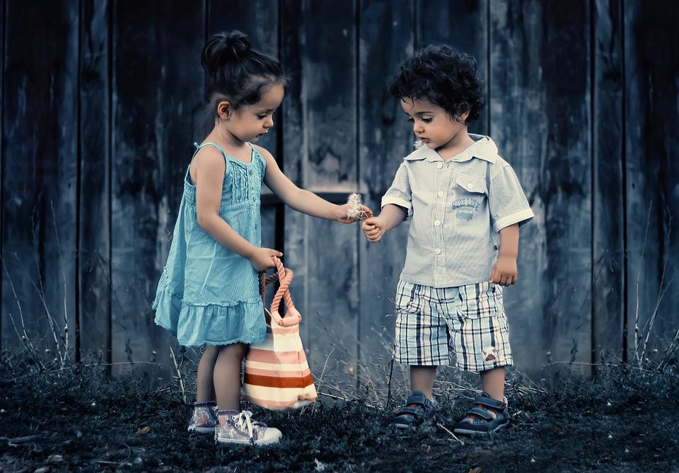 Tweeling jongen en meisje