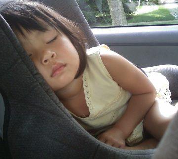 slapen in auto